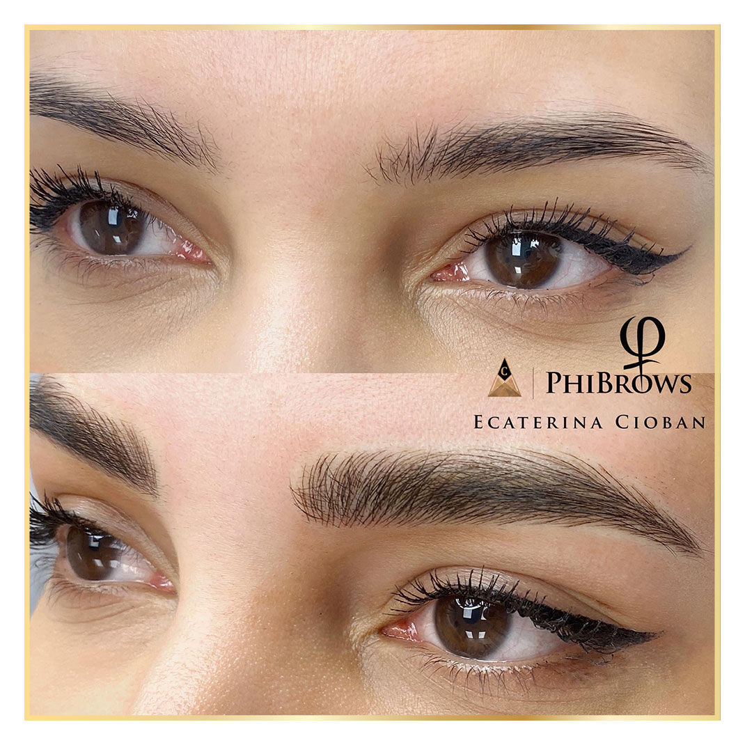Microbladed eyebrows by PhiMaster Ecaterina Cioban