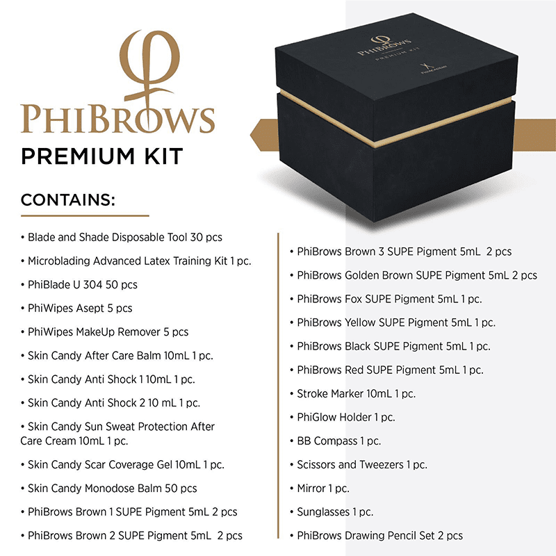 What PhiBrows premium kit contains?
