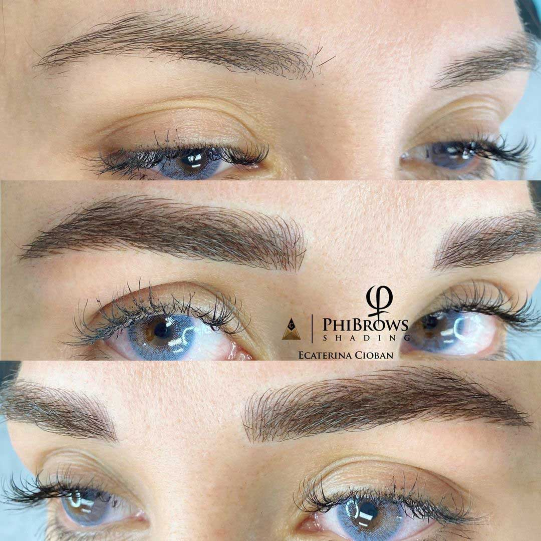Microblading before and after by Ecaterina Cioban