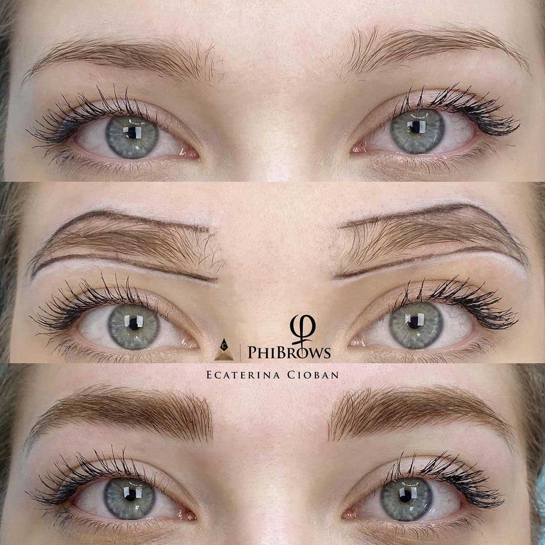 Microblading before and after by PhiMaster Ecaterina Cioban