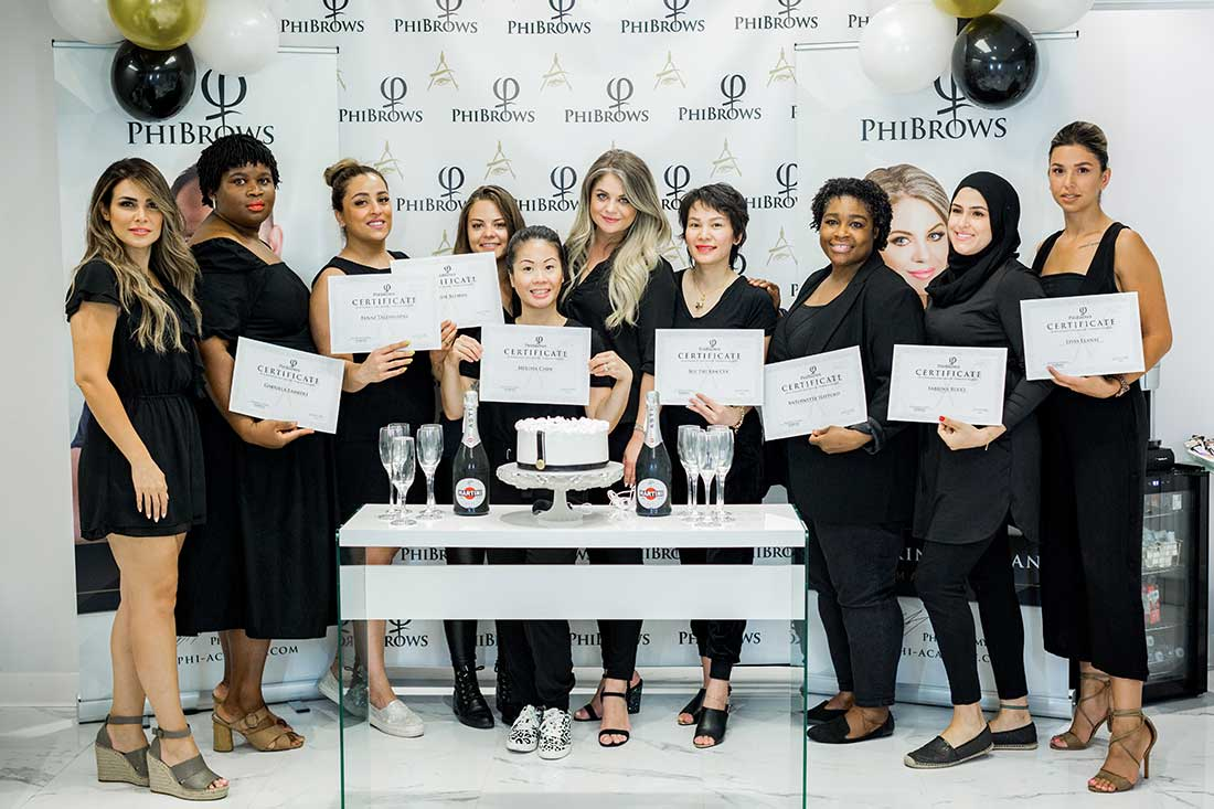 Phibrows course in Montreal by Ecaterina Cioban