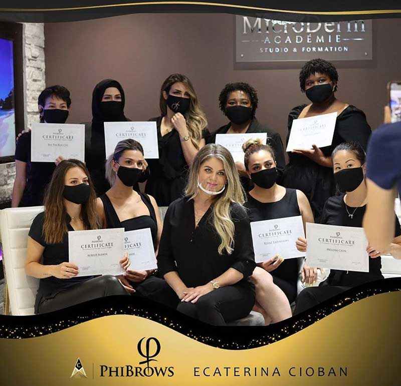 Live PhiBrows Microblading Training Canada