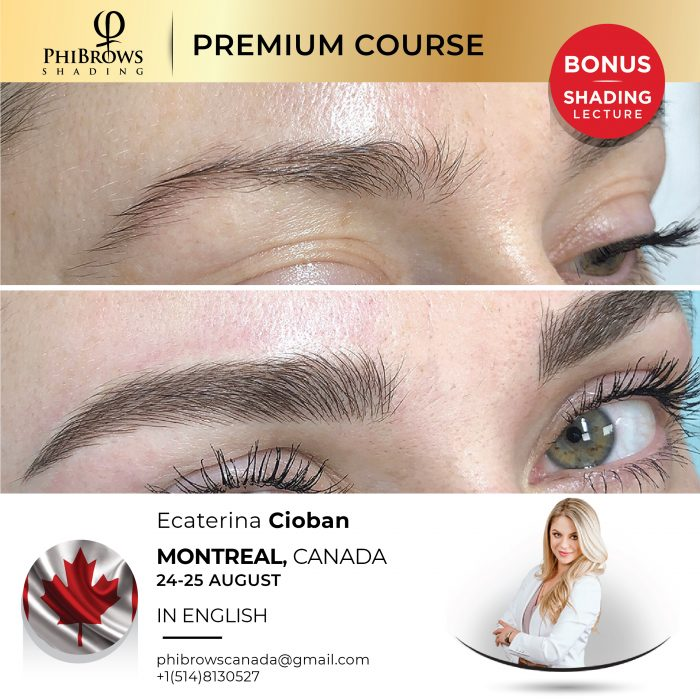 Phibrows Microblading Course Montreal, CA 2021 – Aug 24