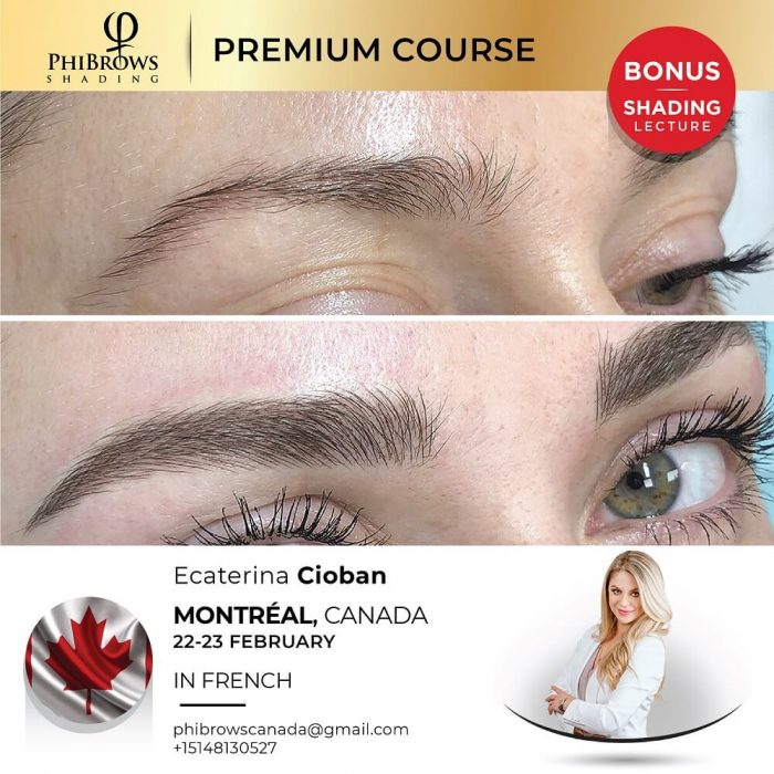 Phibrows Microblading Course Montreal, CA 2022 – Feb 22/23