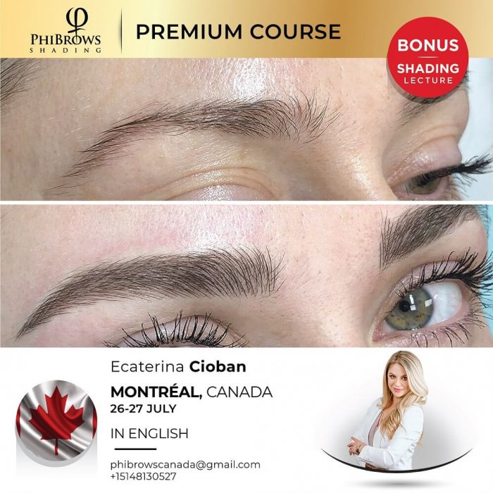 Phibrows Microblading Course Montreal, CA 2022 – July 26/27